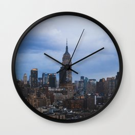 Empire State Building and the Manhattan skyline Wall Clock