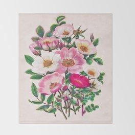 Wild roses Throw Blanket