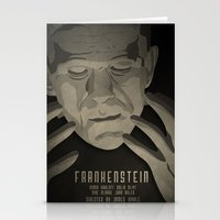 frankenstein Stationery Cards featuring Frankenstein by James Northcote