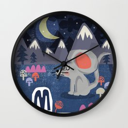 """M"" Wall Clock"