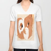 gizmo V-neck T-shirts featuring Gizmo by ItalianRicanArt
