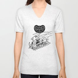 Steam Powered Bicycle Unisex V-Neck