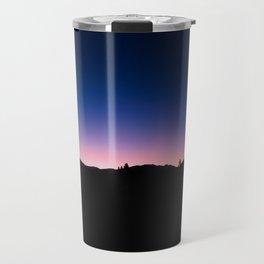Pink blue sky Travel Mug