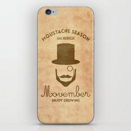 Moustache season iPhone Skin