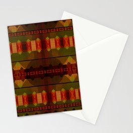 """Full Colors Tribal Pattern"" Stationery Cards"