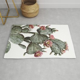 Prickly Pear Cactus Painting Rug