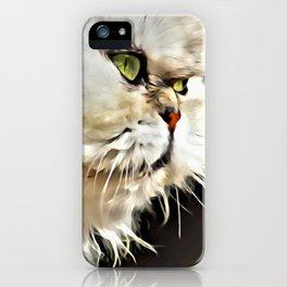 White Persian Cat iPhone Case