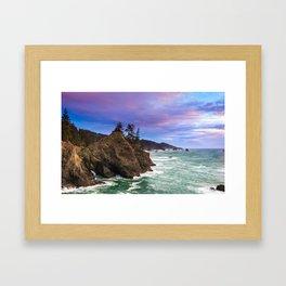 Thunder Rock Cove Sunset Framed Art Print