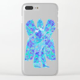 Modern Sumerian god Clear iPhone Case