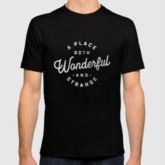 A Place Both Wonderful and Strange LARGE Mens Fitted Tee Black
