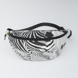 Black and White Zebra Photography Fanny Pack