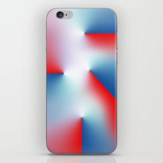Red and Blue iPhone & iPod Skin