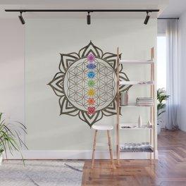 Flower of Life Chakra Healing Mandala Wall Mural