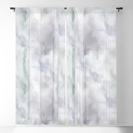 Abstract modern gray lavender watercolor pattern Blackout Curtain