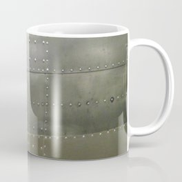 Silver Metal and Rivets Coffee Mug