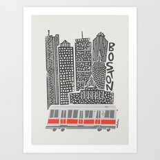Boston Cityscape Art Print