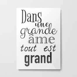 French success quote print Metal Print