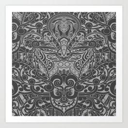 Balinese Abstract Art2 Art Print