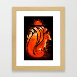 Fox Fire Framed Art Print