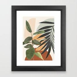 Sunset Flora 03 Framed Art Print