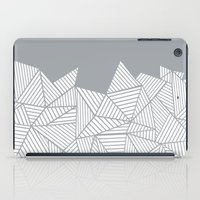 psych iPad Cases featuring Abstract Mountain Grey by Project M