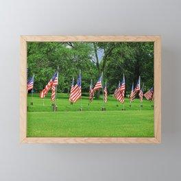 Flags Flying in Memoriam Framed Mini Art Print
