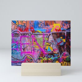 Bright Graffiti Mini Art Print
