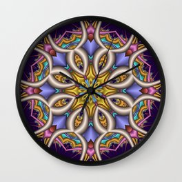 Colourful fantasy flower with optical effect Wall Clock