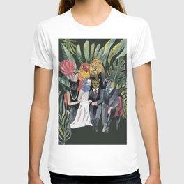 animals family portrait T-shirt
