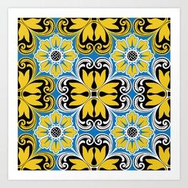 Azulejo portugues 5 Art Print
