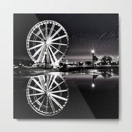 Ferris Wheel in the City Metal Print