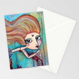 Mermaid & the Golden Fish Stationery Cards