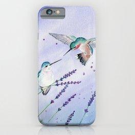 Hummingbird Romance iPhone Case