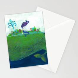 Mermaid & Big Blue Stationery Cards