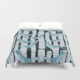 For the Birds and Birch Trees Duvet Cover