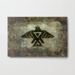 Thunderbird, Emblem of the Anishinaabe people - Vintage version Metal Print