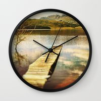 future Wall Clocks featuring Future by SpaceFrogDesigns