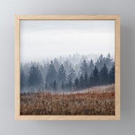 Lost In Fog Framed Mini Art Print