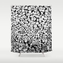 Storing Wood Shower Curtain