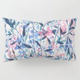 Wandering Wildflowers Blue Pillow Sham