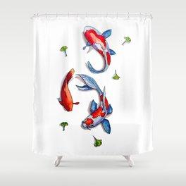three kois Shower Curtain