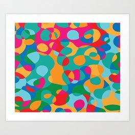 Jelly Bean Splat! Art Print