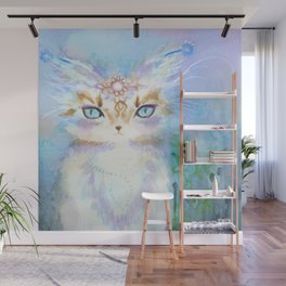 Lavadrille Cat : Guardian of the Mind Wall Mural