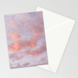 Pink Clouds Stationery Cards