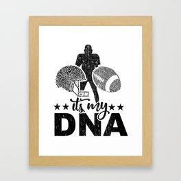 Is In My DNA Fingerprint Helm Ball Football Gift Framed Art Print