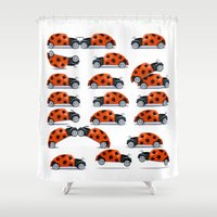 bug Shower Curtains featuring Bug fun by John Medbury (LAZY J Studios)
