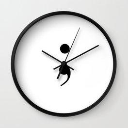 semi colon Wall Clock