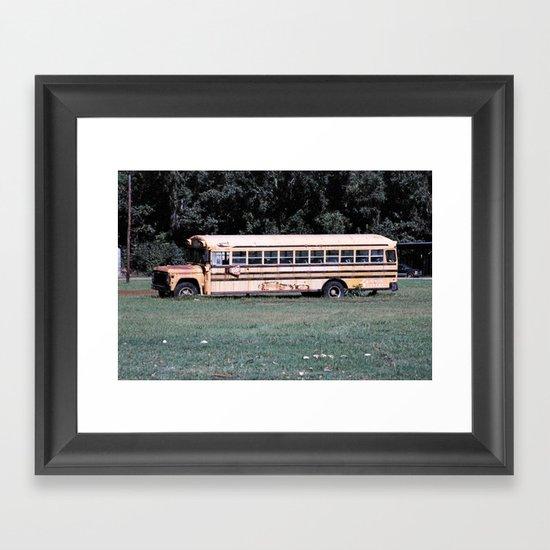 Bus Times Framed Art Print