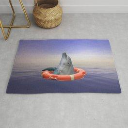 Lifebuoy Dolphin - Sea Ocean Water Rug