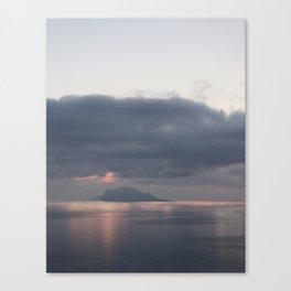 sunrise over the sea, sicily Canvas Print